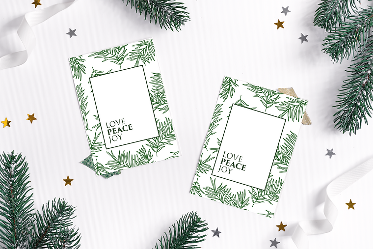 Pine leaf Christmas cards.png