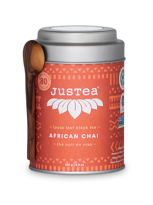 JusTea® Loose Leaf African Chai Tea Gift Tin