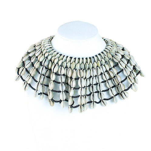 Deluxe African Cowrie Shell Necklace