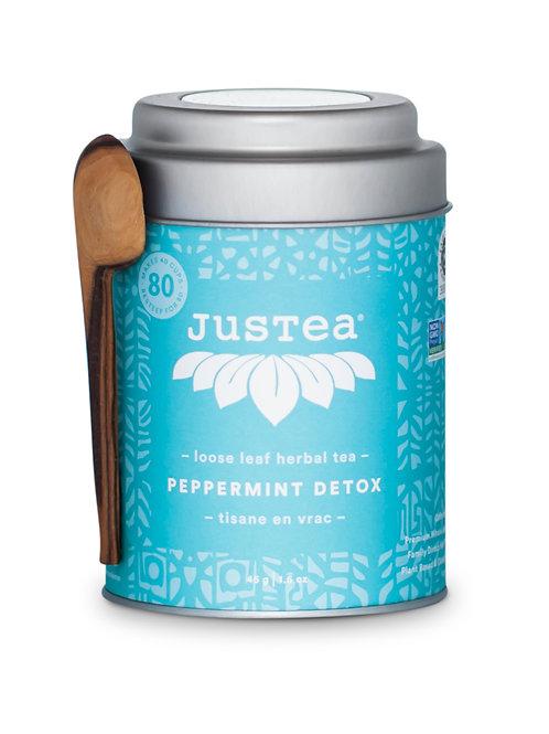 JusTea® Loose Leaf Peppermint Detox Tea Gift Tin