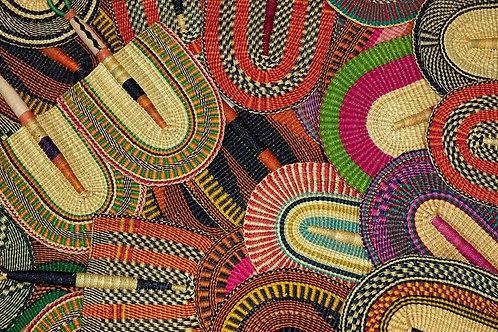 Handwoven Burkina Faso Fan