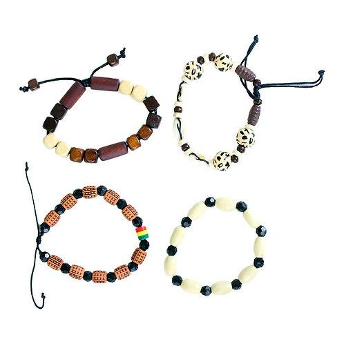 Set Of 4 Afrocentric Bracelets