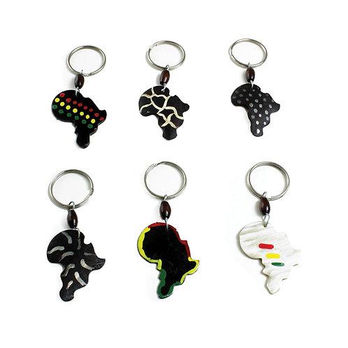 African Bone Keychain