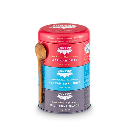 JusTea® Loose Leaf Black Tea Trio Gift Tin