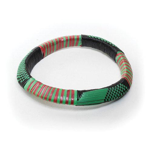 Thick Embroidered Tuareg Bracelet: Small
