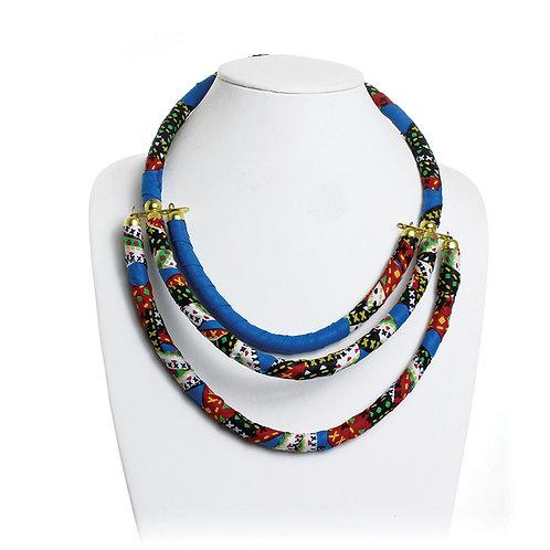 Kitenge 3-Row Multi Necklace
