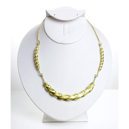 Fulani Gold Twist Necklace