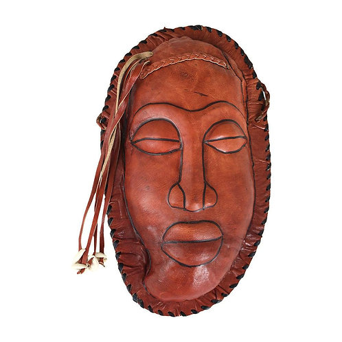 Brown Mask Leather Purse