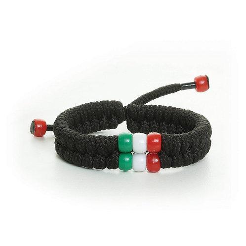African Bead Shoelace Bracelet