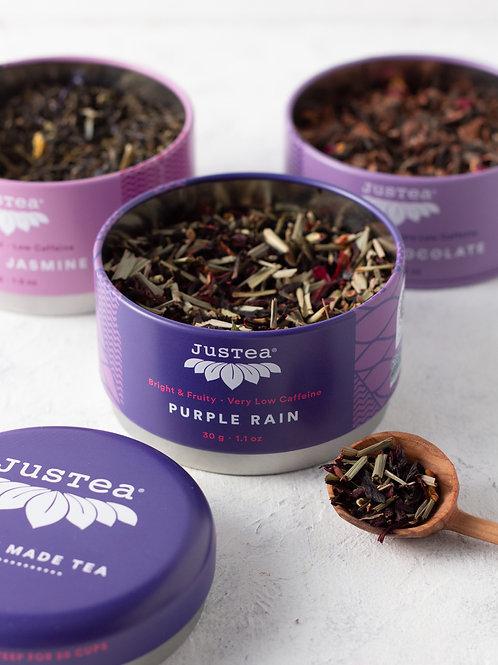 JusTea® Loose Leaf Purple Tea Trio Gift Tin