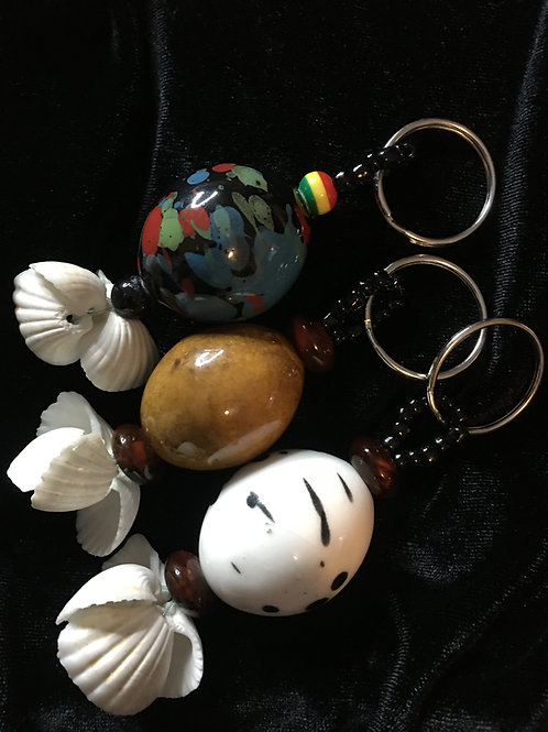 Natural African Agate Keychain