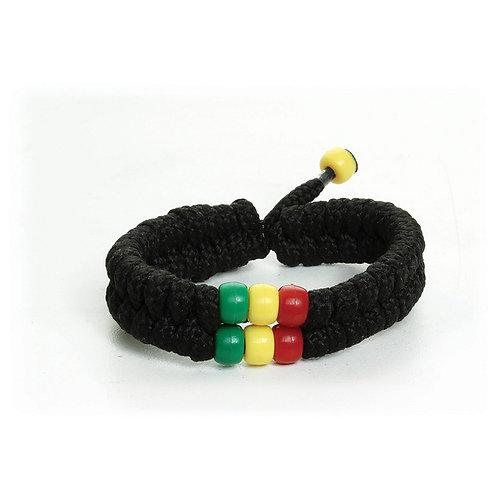 Rasta Bead Shoelace Bracelet