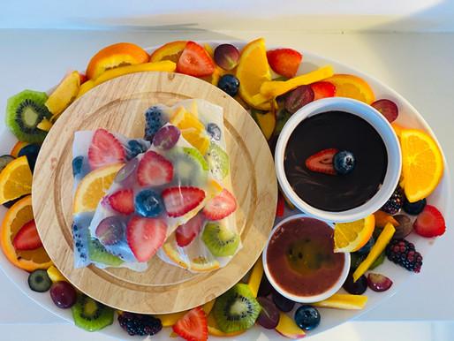 VEGAN FRUIT SPRING ROLLS