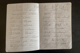 """A journal entry: """"what I have different"""""""