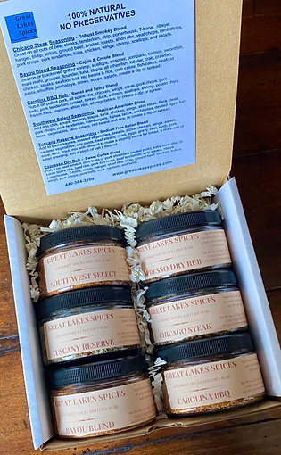 Gift Box/Sampler of 6 Seasonings