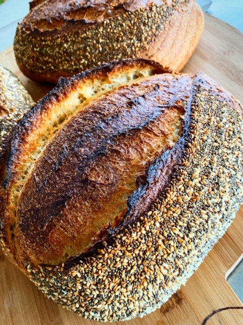 Khorasan, chia and sesame loaf