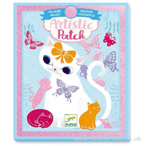 Djeco - Artistic patch DIY viltplaatjes: katten