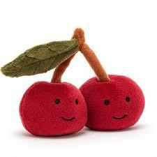 Jellycat- fabulous fruit cherry