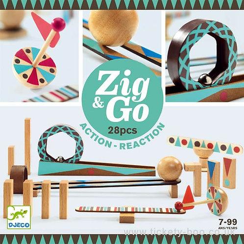 Djeco- Zig& Go 28pcs