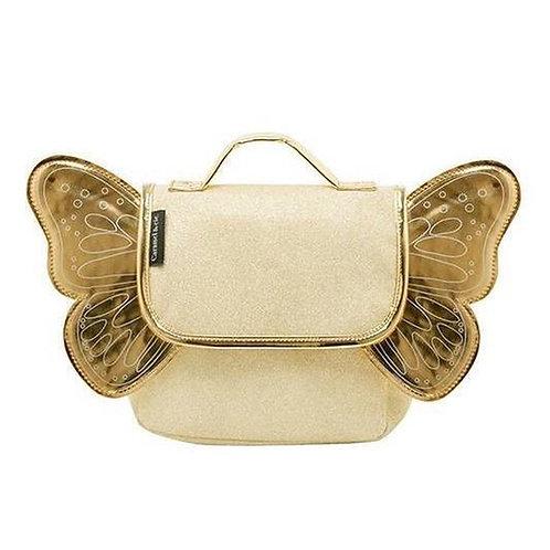 CARAMEL & CIE- Kleuterboekentas met vleugeltjes (Goud & Glitter)