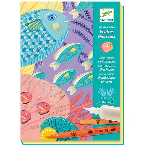 Djeco - Verfstiften: onder de zee