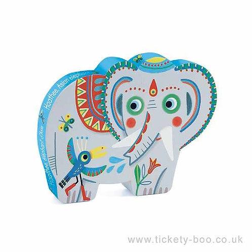 Djeco-Puzzel 24  stuks ' Haathee, aziatische olifant'
