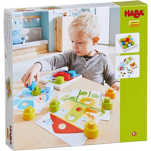 HABA-Insteekspel Kakelbonte wereld