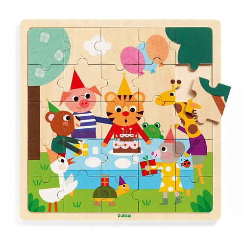 Djeco - Houten puzzel 25stk: Happy
