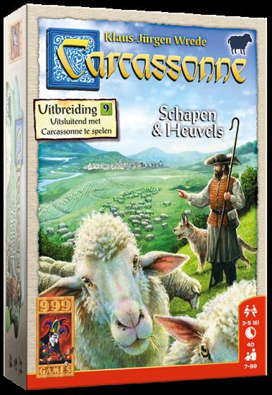 999Games-Carcassonne: Schapen en Heuvels
