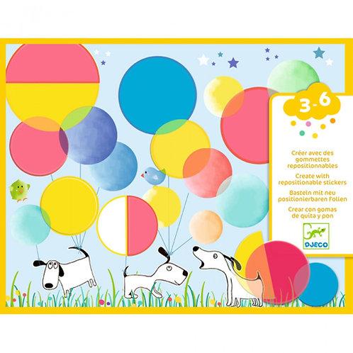 Djeco - Creëren met herbruikbare puffy stickers: magische rondjes