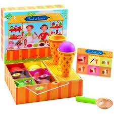 Djeco- Paul en Cerise 'ijsjes maken' houten speelgoed