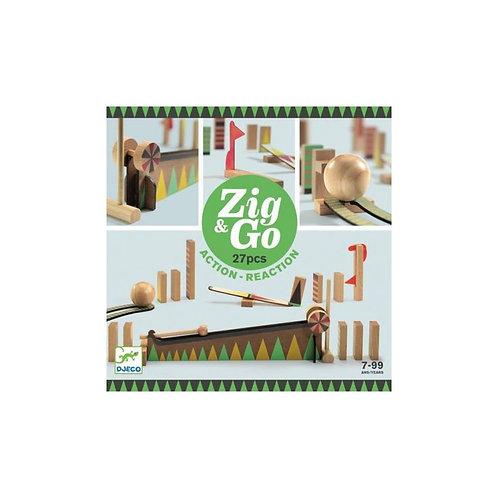 Djeco- Zig & go 27 stuks