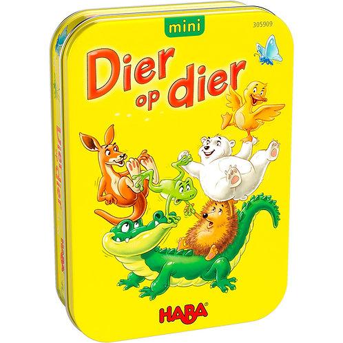 Haba- Dier op dier mini in blikken doosje
