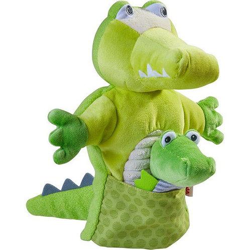 HABA-Handpop Krokodil met Baby