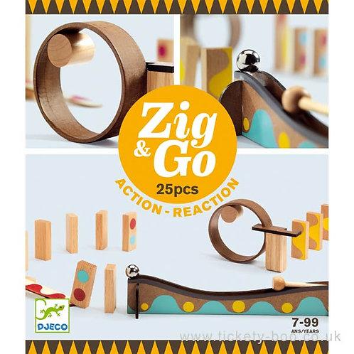 Djeco- Zig & go 25stuks