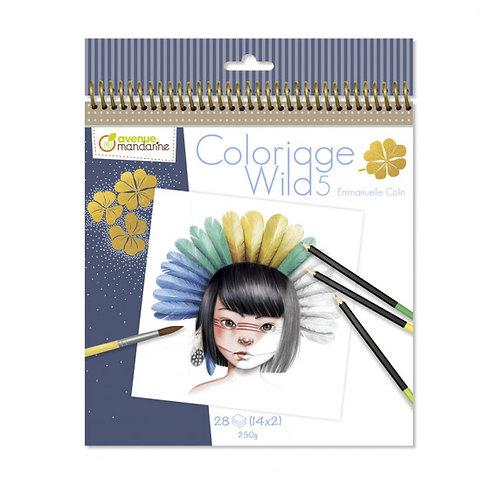 Avenue Mandarine - kleurboek Coloriage wild 5