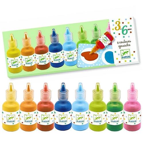 Djeco- 8 kleuren Waterverf