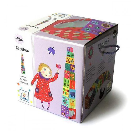 Djeco- 10 Cubes 'Natuur'