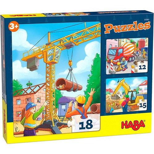 """Haba-puzzel """"bouwvoertuigen"""""""