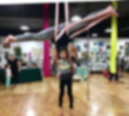 Intro to Aerial Fitness Includes Lyra, Trapeze, and Aerial Silk Classes