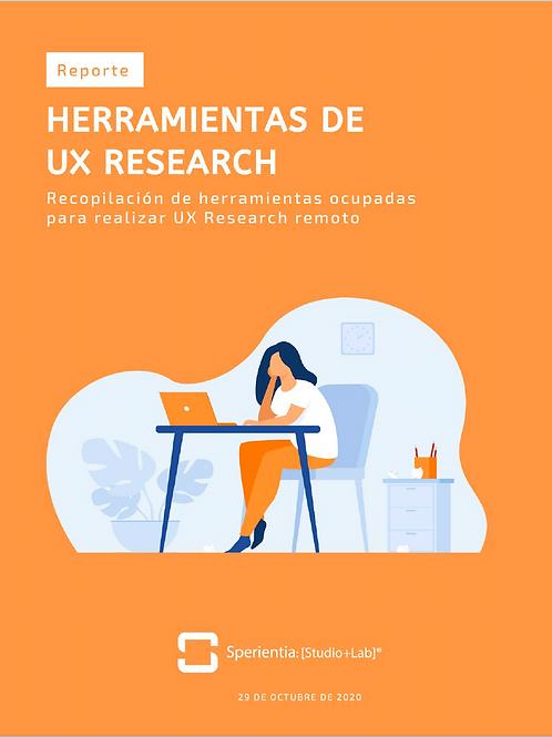 Herramientas para UX Research Remoto por Sperientia