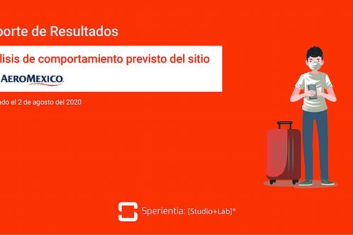 Análisis del Sitio Web de Aeromexico a partir del Comportamiento Previsto