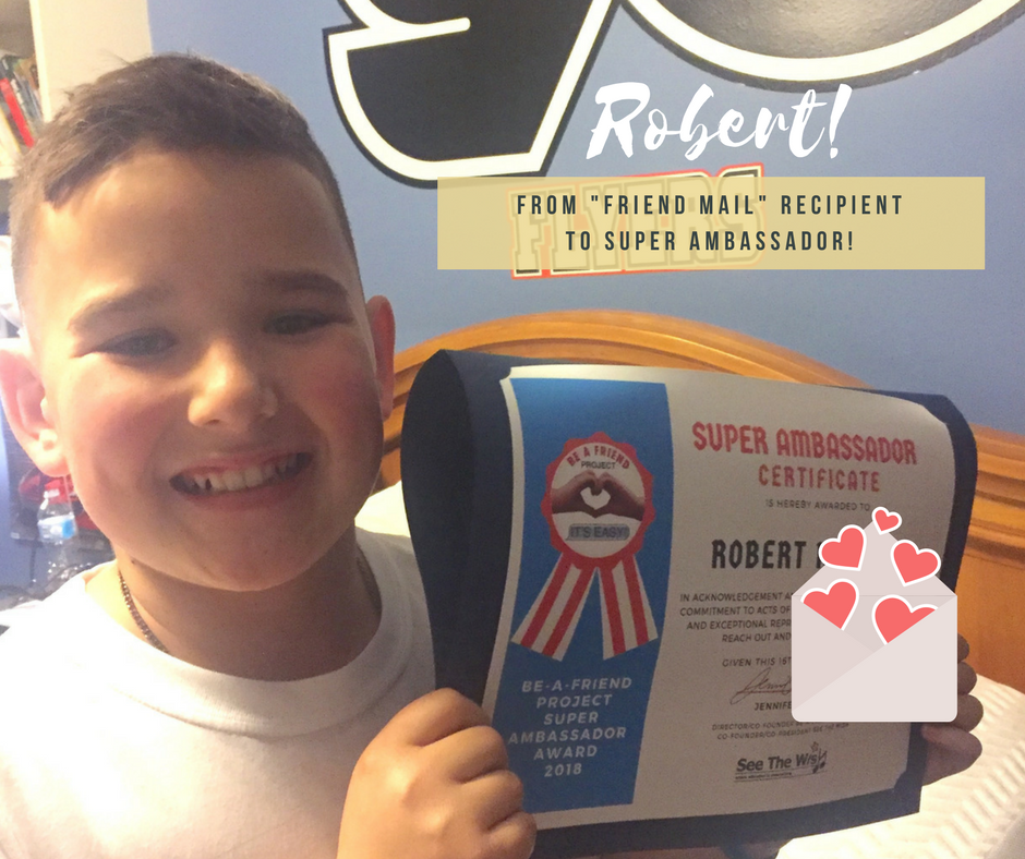 Recipient Robert becomes a Super Ambassador!