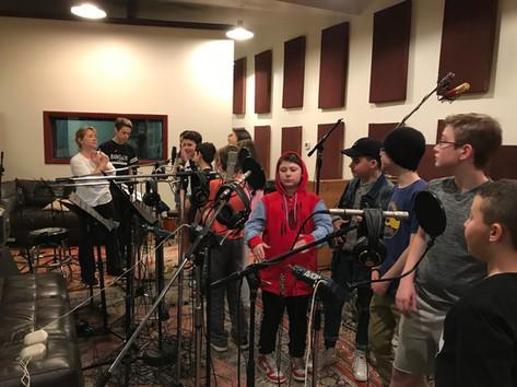 In the Riverworks Recording Studio!