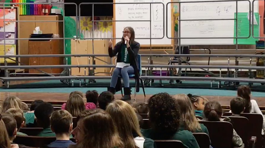 Brielle Withers holds BAFP Assembly at Willow Ave School, Cornwall, NY