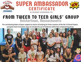 From Tween to Teen Girls' Group