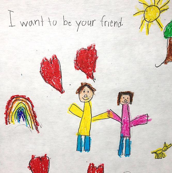 Friend Mail Art
