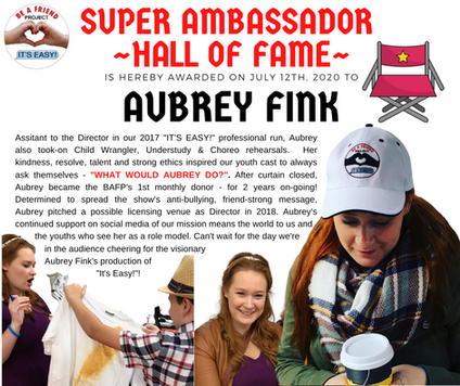 Crew member, Aubrey Fink, becomes Super Ambassador in 2020!