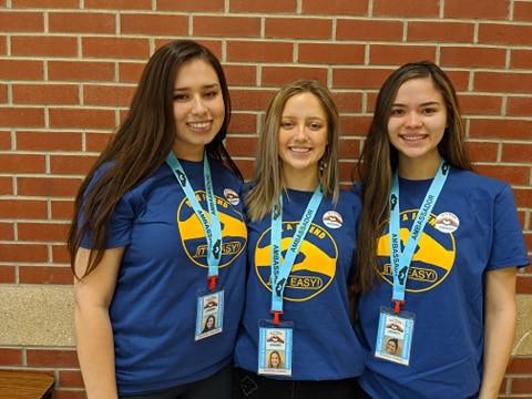 Ambassadors Sydnee, Brooke and Carmen of the FCCLA, Bushland, TX