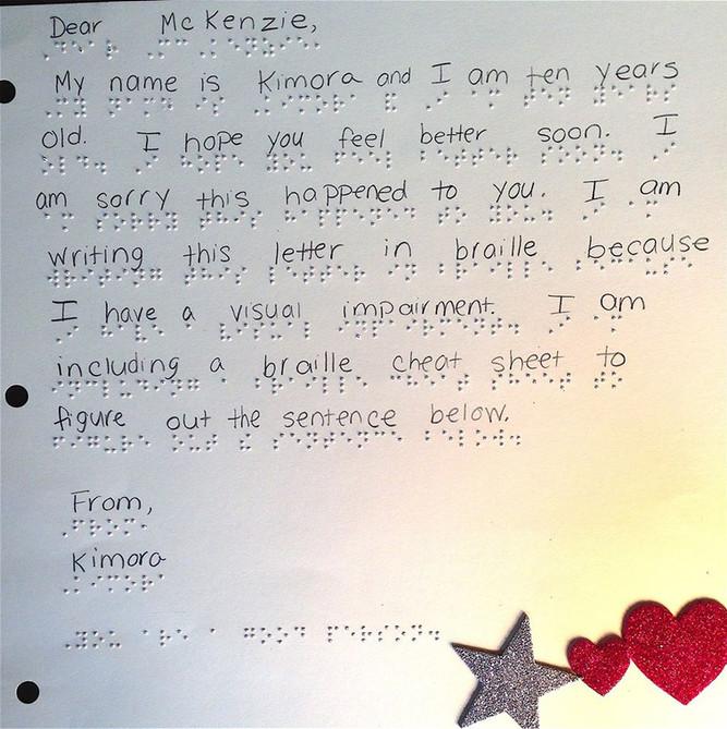 Braille Friend Mail Letter